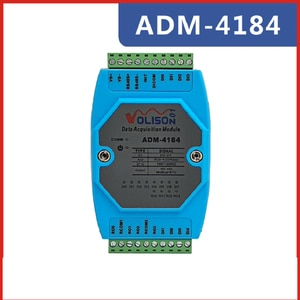 8-way switch value acquisition DI / DO 4-way relay output control module MODBUS RS485 communication