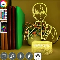 smart phone control haikyuu volleyball junior anime 7 colors changing table lamp for study event prize gifts 3d led night light