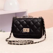 S.IKRR Korean Luxury Handbag Pu Leather Chain Crossbody Bags For Women 2020 Designer Lock Women Bags Diamond Glap Shoulder Bag