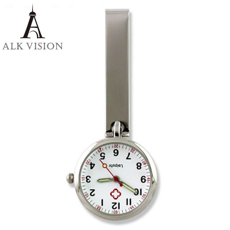 Reloj de bolsillo con cadena clásico con clip relojes de enfermera a prueba de agua solapa de oro rosa plata regalo médico para hospital doctor dropshipping