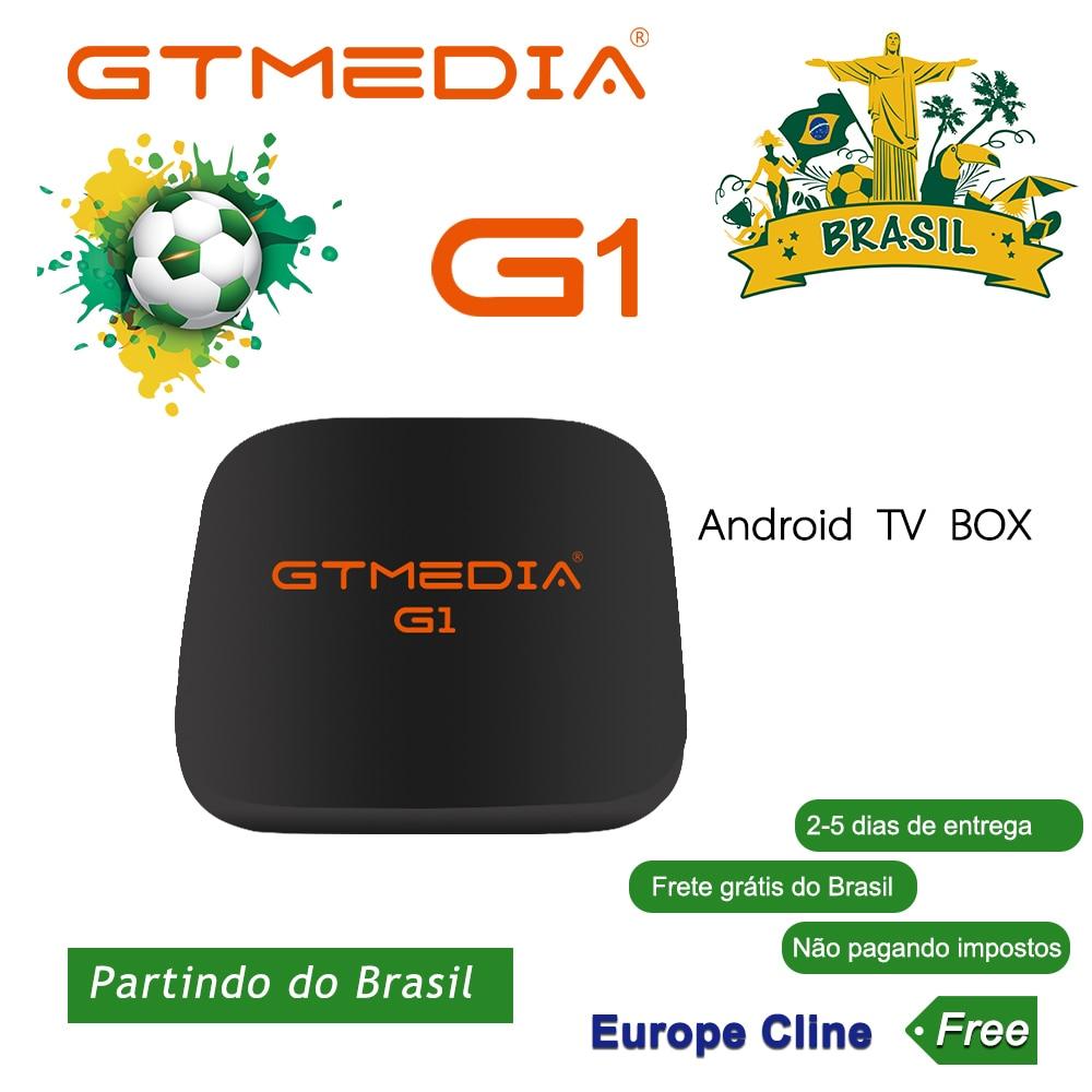 Medios GT G1 Dispositivo de TV inteligente Android 7,1 1GB 8GB 16 GB reproductor multimedia GB 4K Google Youtube construido en 2,4G WiFi Set Top Box 4K 3D PK H96MAX 2GB16