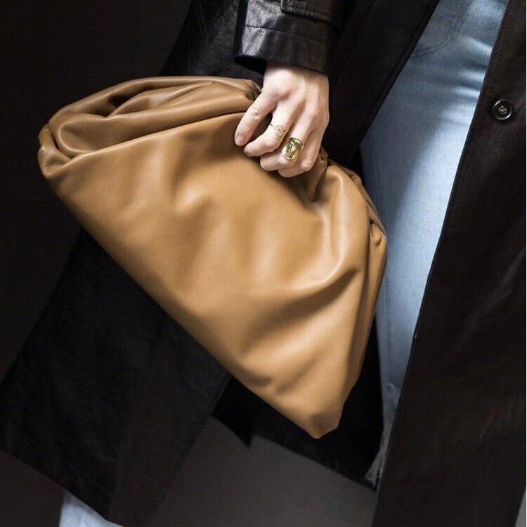 Women Simple Dumplings Messenger Bag Designer Retro 2019 Fashion New Cloud Female Crossbody Shoulder Bag Tide Handbag Clutch Bag