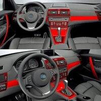 car styling 3d 5d carbon fiber car interior center console color change molding sticker decals for bmw x3 e83 2006 2010
