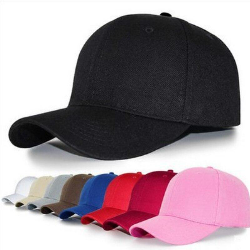 1Pc Summer Fashion Adjustable Cotton Cap Men Women Multicolor Ponytail Baseball Caps Outdoor Leisure Sun Hats Sport Duckbill Hat