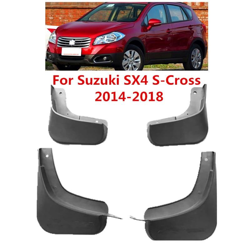 Guardabarros de coche para Suzuki SX4 s-cross Maruti Scross 2014-2018 guardabarros accesorios de estilo de coche