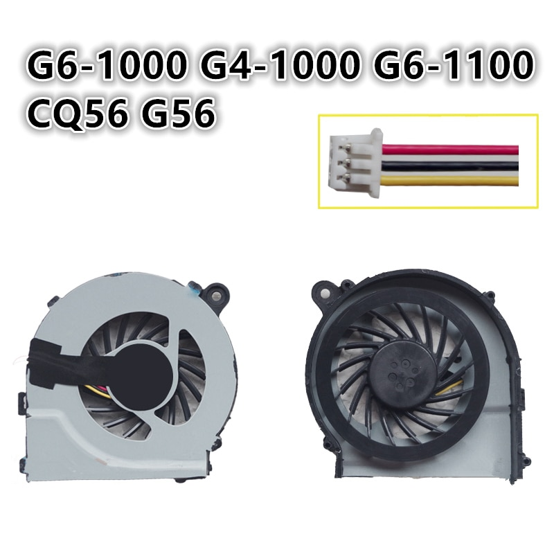 Brand New Laptop CPU Cooling Fan For HP Compaq G6-1000 G4-1000 G6-1100 CQ56 G56 Notebook Cooler Radi
