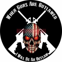 2a when guns are outlawed i will be an outlaw bumper car stickers vinyl motorcycle decal