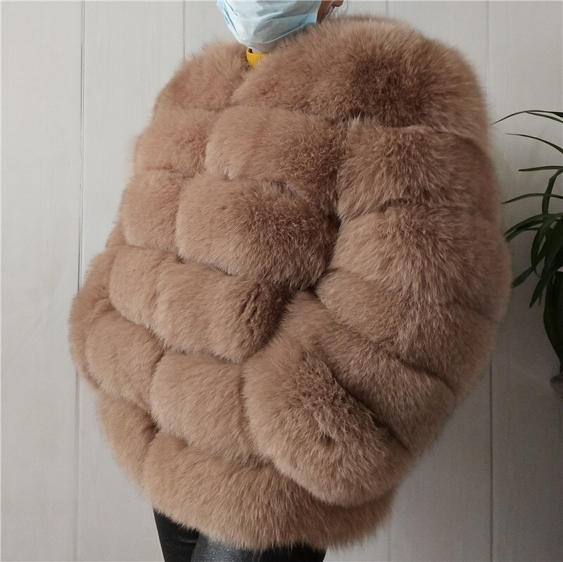 BEIZIRU auténtica piel de zorro abrigo traje de manga larga de Plata de Calidad fox mujeres invierno cálido grueso natural abrigos de piel de zorro