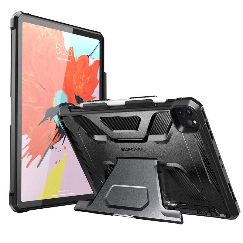 SUPCASE Für iPad Pro 12,9 Fall (2020 Release) UB Volle-Körper Robuste Gummi Abdeckung mit Gebaut-in Apple Bleistift Halter & ständer