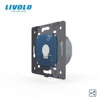 Выключатель настенный сенсорный Livolo, европейский стандарт, 1 клавиша, 2 канала, AC 220 ~ 250 В, без стеклянной панели