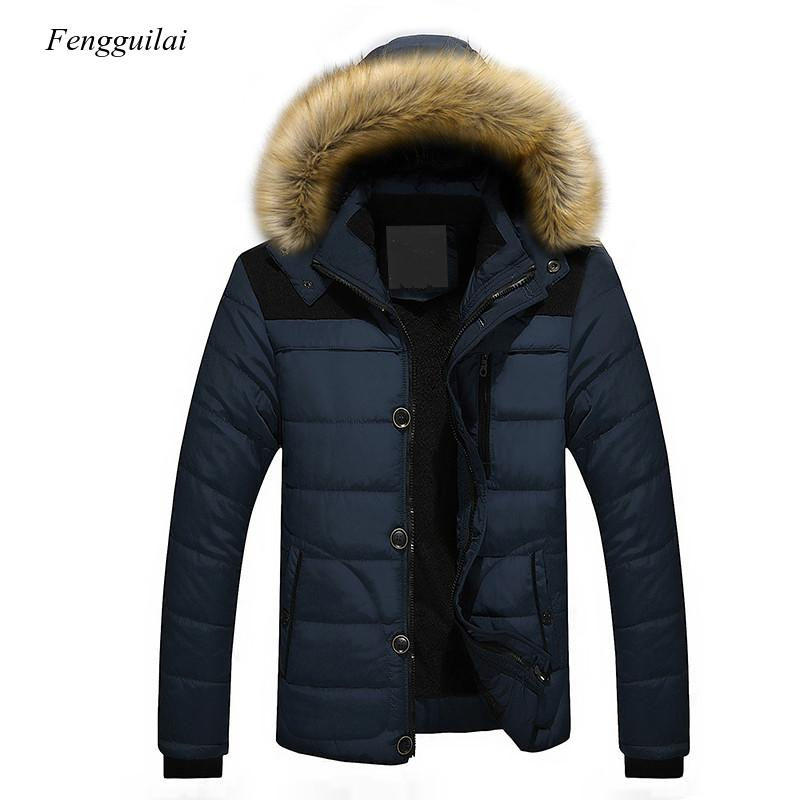 autumn winter mens wool liner long hooded parka warm printed thick coat casual size m xxxxxl t188 2020 Fur Collar Hooded Men Winter Outerwear Thick Thermal Men Warm Wool Liner Coat Men Coat Snow Parka Down Jacket M-5Xl