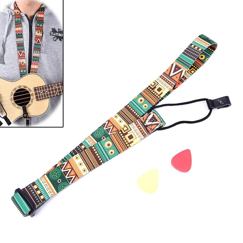 Adjustable Nylon Printing Style Ukulele Strap Ukulele guitar Accessories strap hawaii guitarra ukulele rainbow strap adjustable multicolor ukulele strap soft nylon belt for hawaiian guitar ukulele