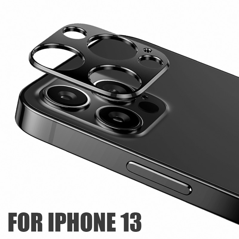Metal Back Camera Lens Screen Protector for IPhone 13 Mini Pro Max Aluminum Alloy Ring Film for Ipho