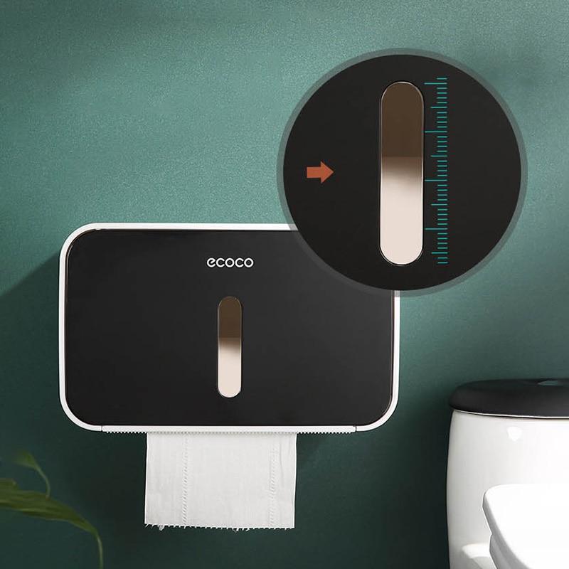 Portable Toilet Paper Holder Creative Foldable Hanger Tissue Box Wall-mount Bathroom Storage Rack Home Toilet Roll Holder enlarge