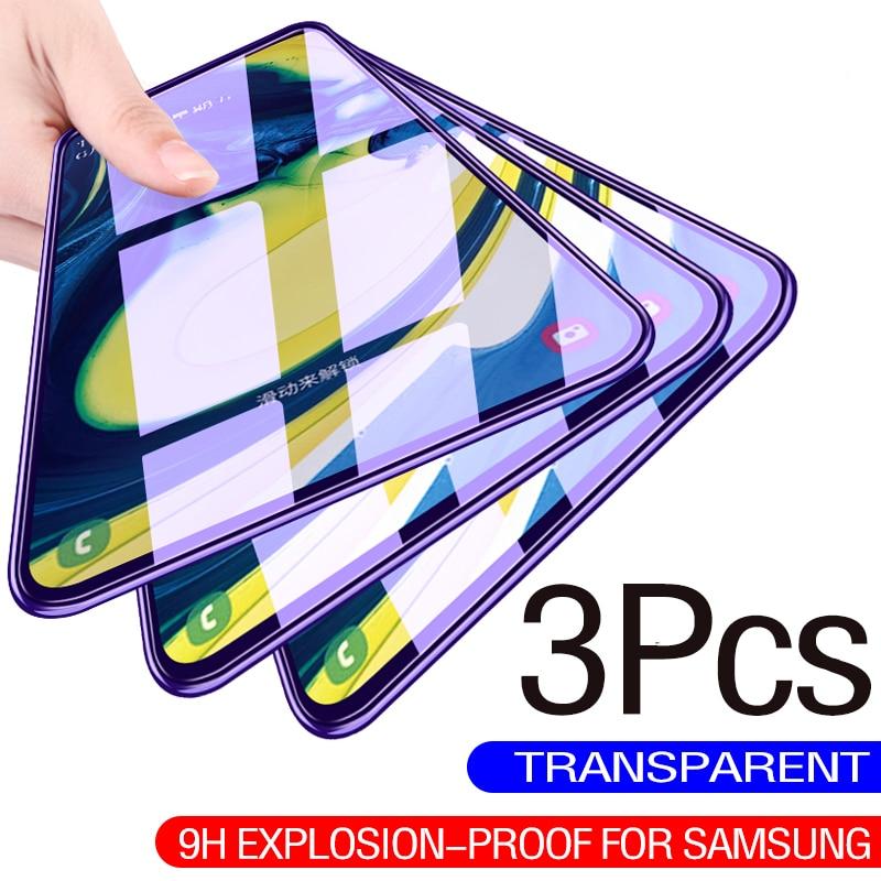 Закаленное стекло с полным покрытием для Samsung Galaxy A21S A21 A31 A51 A71 A10 A20 A30 A50 A70 A6 A8 J4 J6 Plus A7 2018, защита экрана
