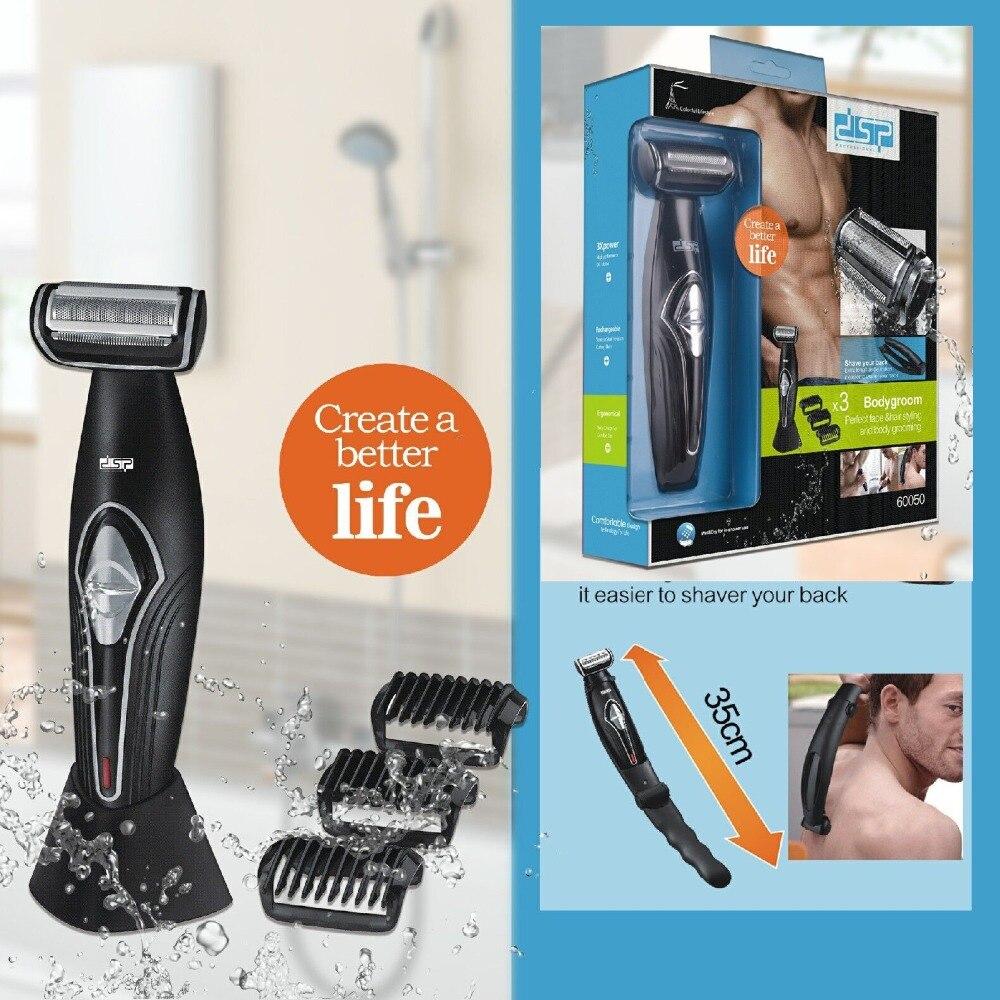 Afeitadora eléctrica profesional, cortadora de pelo, afeitado de cara corporal, máquina eléctrica, afeitadora de barba, trimer para hombres, kit de espalda corporal