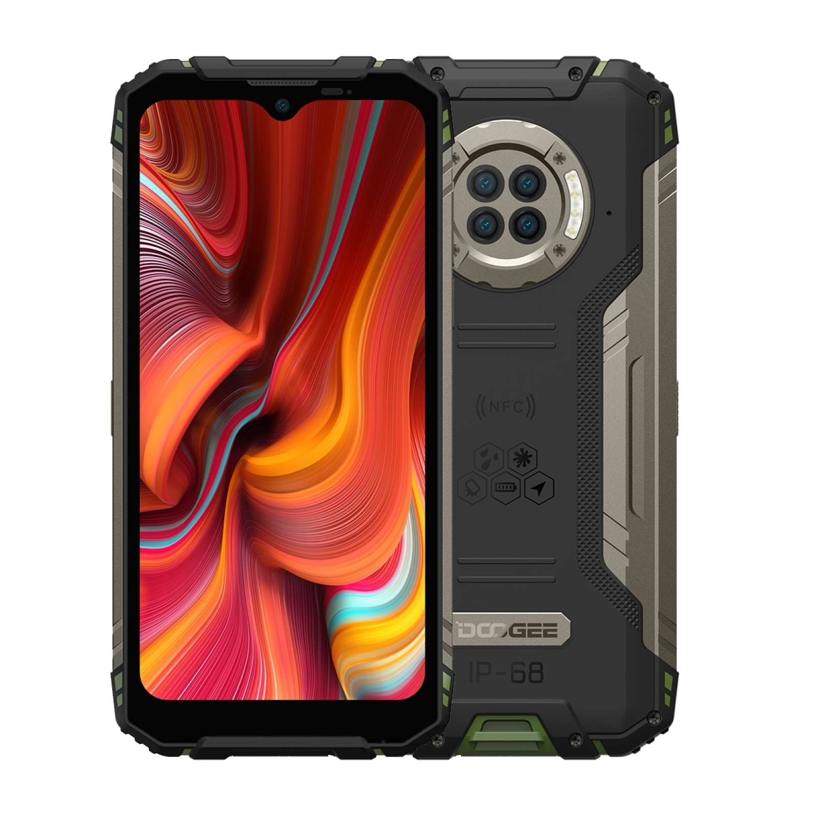 Смартфон DOOGEE S96 Pro защищенный, Android 10, Helio G90, 8 + 128 ГБ, 6,22 дюйма, 48 МП, 6350 мАч