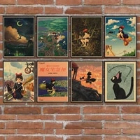 kikis delivery service kraft paper posters wall stickers home furnishings decorative paintings gifts
