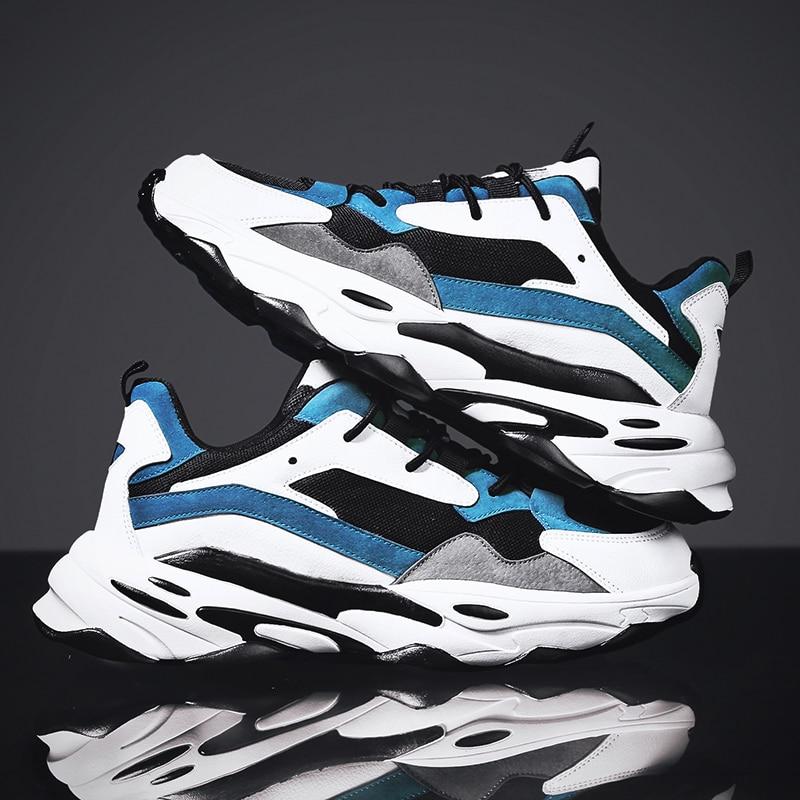 Zapatos informales para hombre, calzado para hombre, zapatillas gruesas, Tenis Masculino, zapatos de malla para hombre adulto, zapatillas deportivas para caminar, calzado deportivo para hombre
