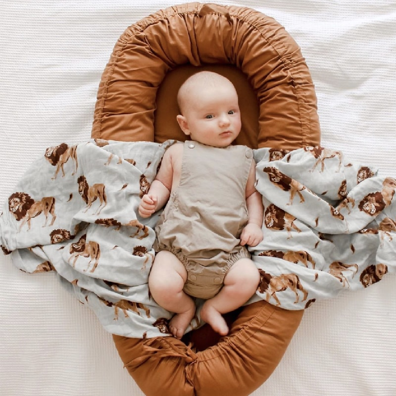 Portable Baby Nest Crib Baby Lounger for Newborn Cocoon Bed Bassinet