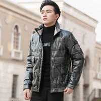 mens down jacket fashion brand ins new winter work clothes fashion white duck down warm stand collar coat mens clothes