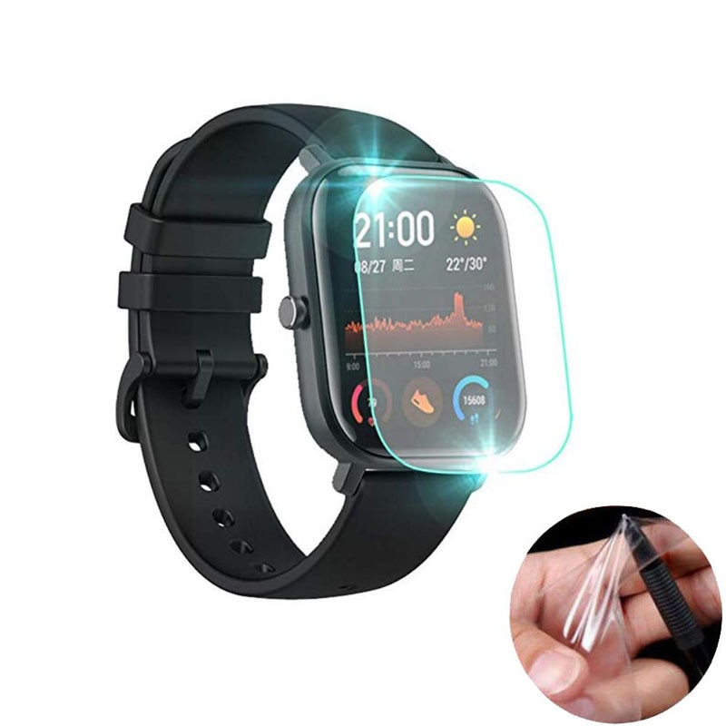 5pcs Soft TPU Clear Protective Film Guard For Xiaomi Huami Amazfit GTS / GTS 2 Sport Smart Watch Ful