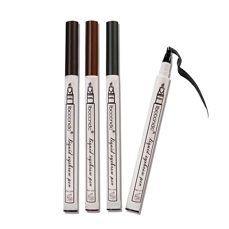 3 цвета карандаш для бровей вилка наконечник водонепроницаемый серый коричневый цвет бровей татуировки ручка для женщин Макияж Новый