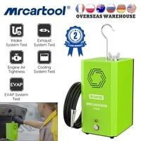 mrcartool t100 smoke machine leak detector automotive exhaust gas analyzer car evap gas leakage locator oil pipe smoke generator