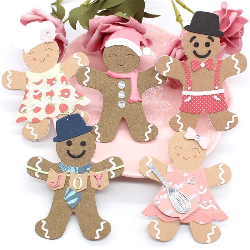 Plantillas de corte de Metal familiar de Gingerbread para DIY Scrapbooking/álbum de fotos decorativas en relieve tarjetas de papel DIY