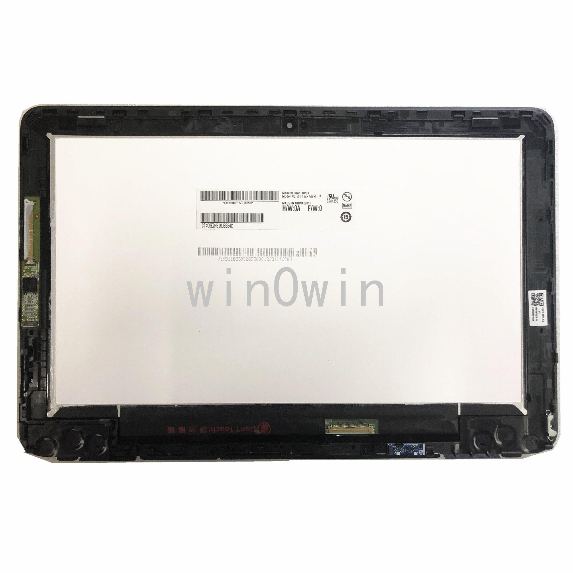 B116XAB01.3 LCD شاشة تعمل باللمس الجمعية محول الأرقام الإطار عرض ل HP Probook x360 11 G1 EE محمول