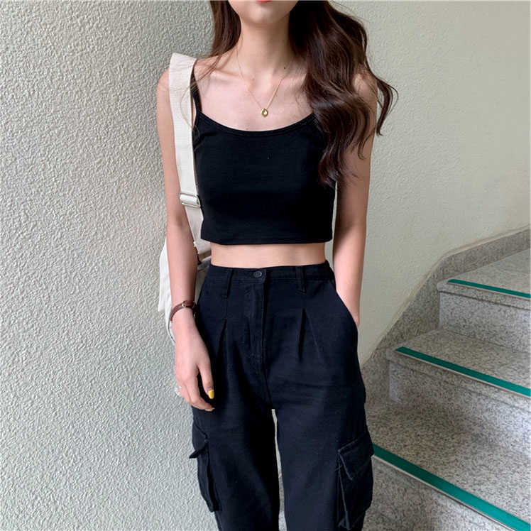 Internet Celebrity Ins Super Popular Chic Elegant Base Small Sling Vest Female Summer Outer Wear Inn