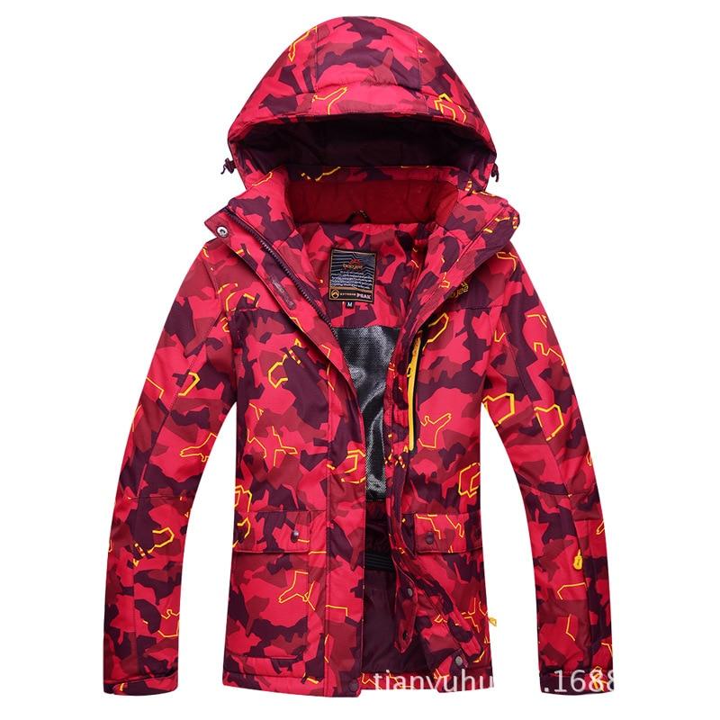 New Style Ski Suit WOMEN'S Korean-Style Winter Outdoor Veneer Double Plate Anorak Waterproof Thick Warm Breathable