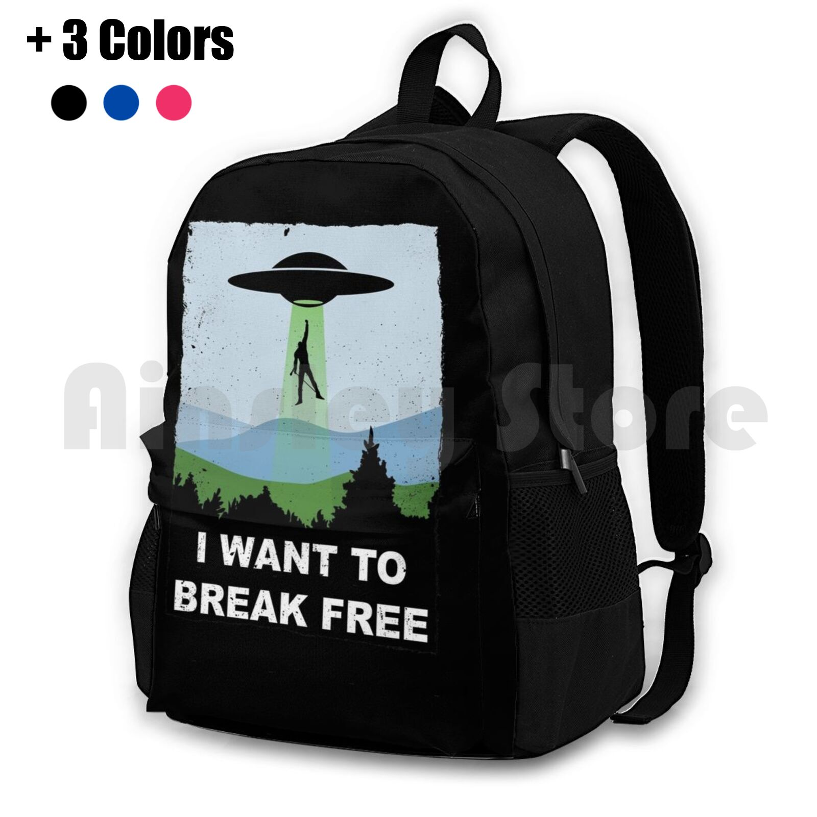 I Want To Break Free-Freddie Returns To Outdoor Hiking Backpack Riding Climbing Sports Bag Queen Freddie Brian May Bohemian