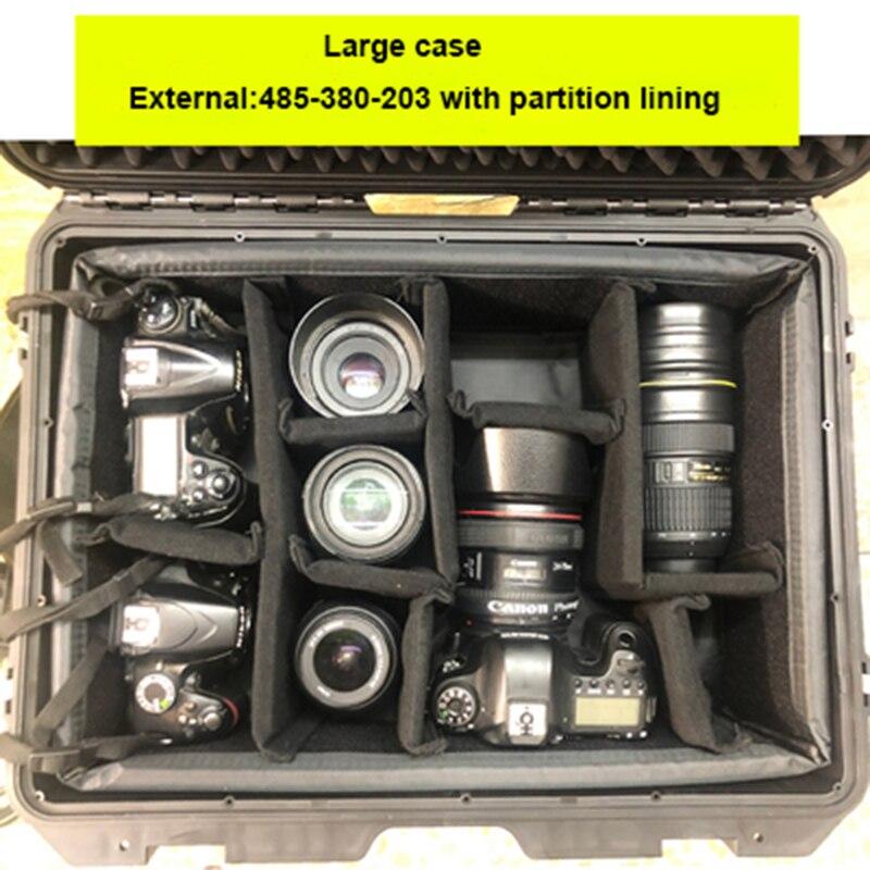 Защитный чехол EVA с интервалами для камеры, Дорожный чехол, чехол на колесиках, чехол для SLR-камеры, защитное оборудование для фотосъемки чехол