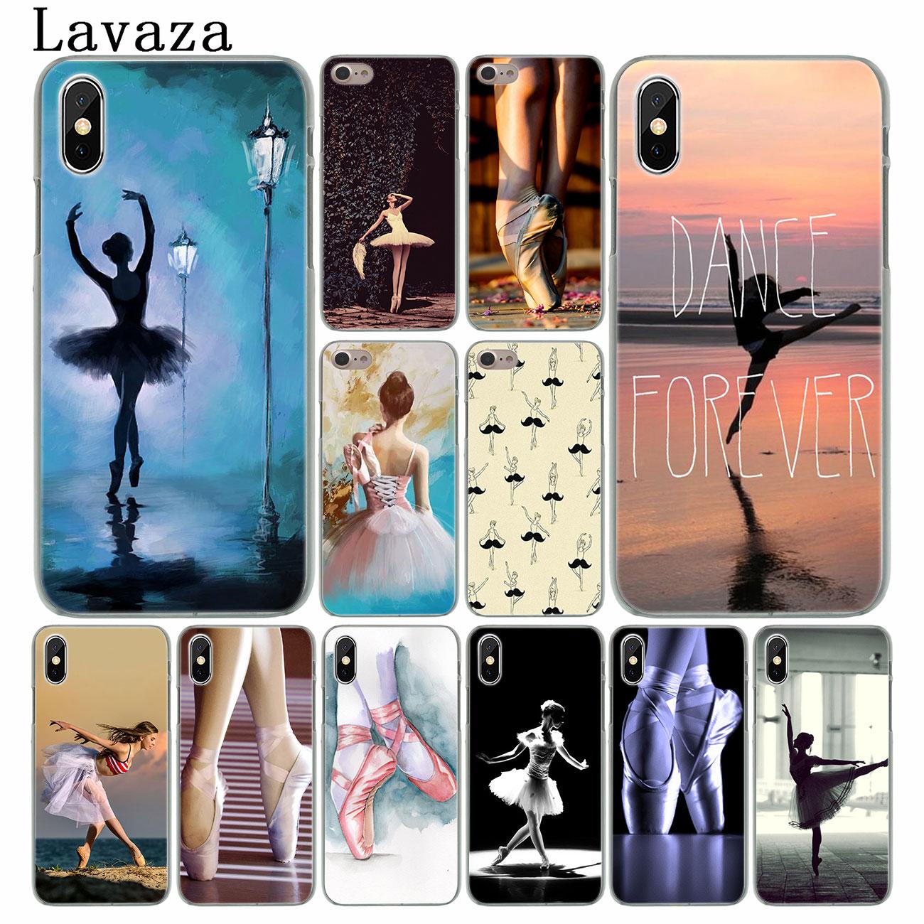 Lavaza chica bailar Ballet zapatillas Pointe zapatos teléfono caso duro para el iPhone XR X XS 11 Pro Max 10 7 8 6 6S 5 5 5S SE 4S 4