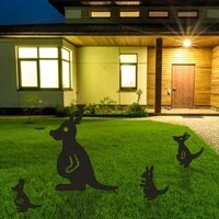 kangaroo yard art garden statues backyard lawn stakes kangaroo family yard decor gift for outdoor garden decoration ornaments