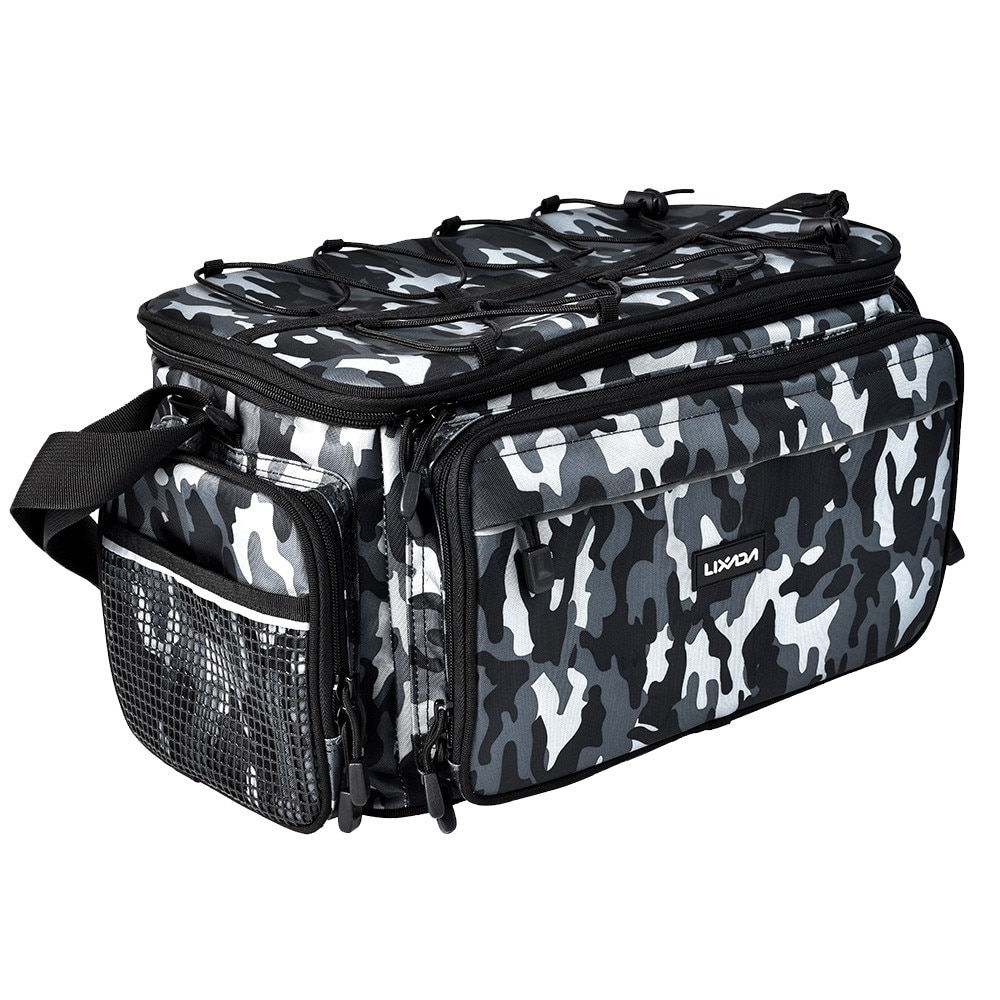 Lixada Outdoor Fishing Bag Oxford Multi-purpose Shoulder Bag Case Fishing Tackle Storage Bag