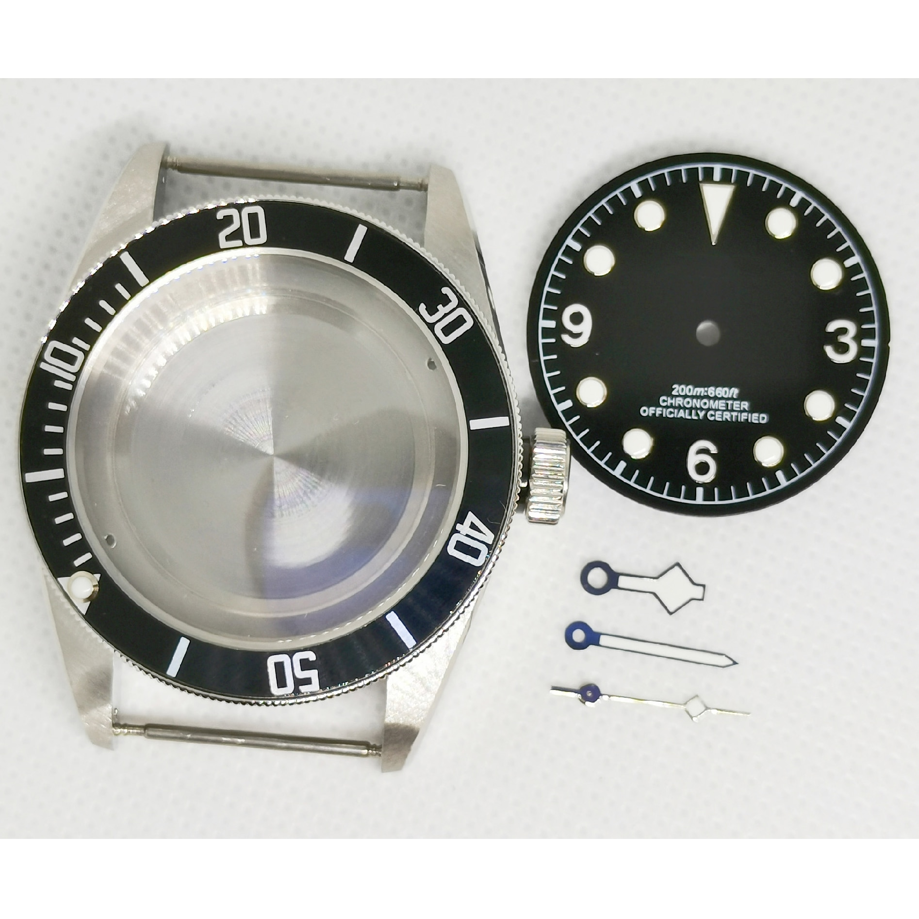 41MM Case 316 Stainless Steel 30.5mm Dial And Hands Fit ETA 2836 ST2130 Miyota8215 NH35 NH36 Automatic Movement enlarge