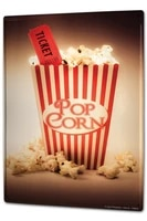 Signe en etain de cinema pop-corn  billet de cinema  decoration de Bar a cafe  decoration de maison
