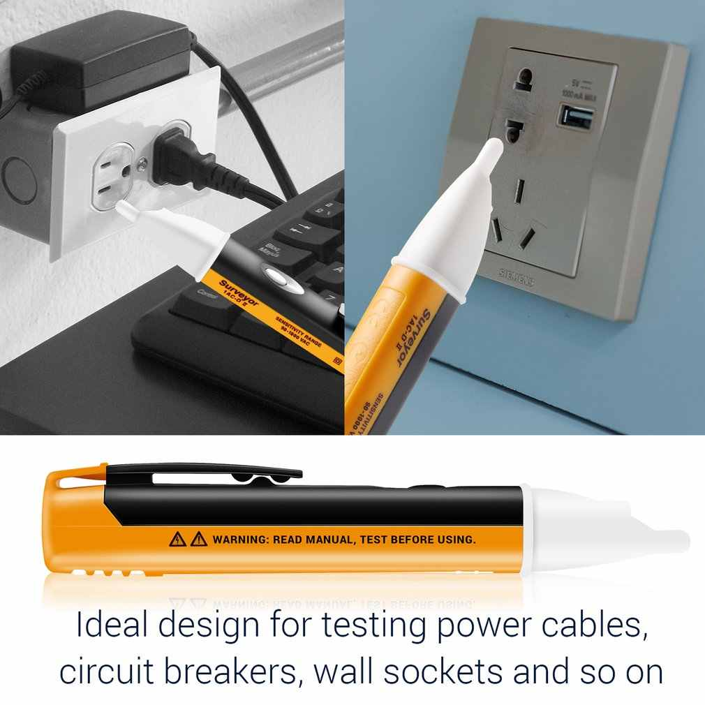 Buchse Wand Ac Power Outlet Detector Sensor Tester Test Stift Led Licht Spannung Anzeige 90 1000v Kostenloser Versand Spannungsmesser Aliexpress