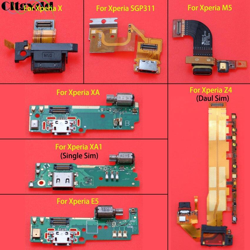 Para Sony Xperia X XA XA1 E5 Tablet Z SGP311 SGP312 SGP321 M5 Z4 puerto de carga USB Dock conector Flex cable con micrófono