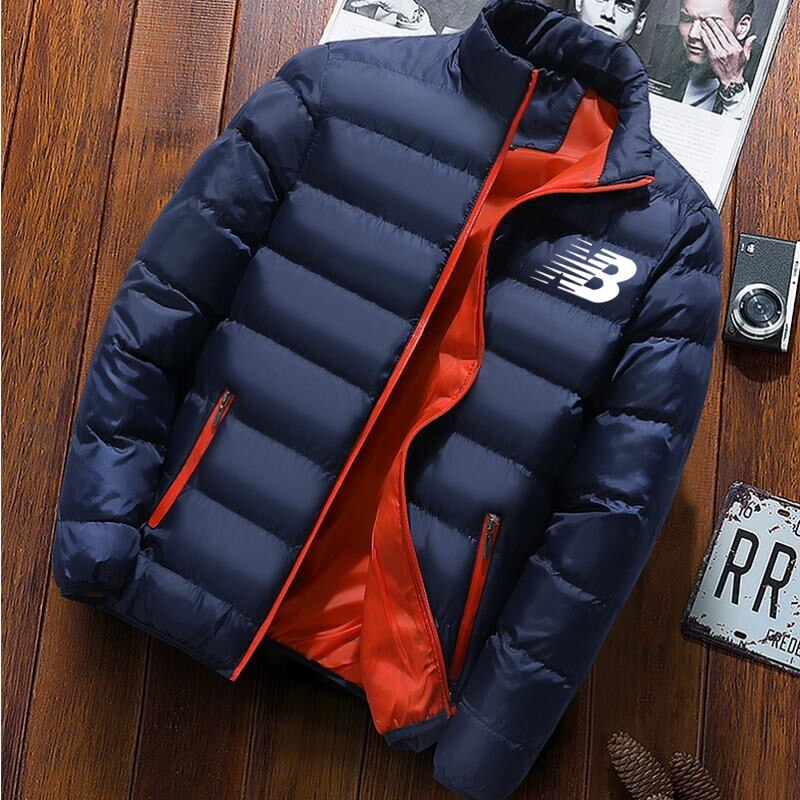 Мужские однотонные толстые куртки и пальто в популярном стиле, Мужские осенне-зимние пальто, высококачественные зимние куртки, Мужская мод...