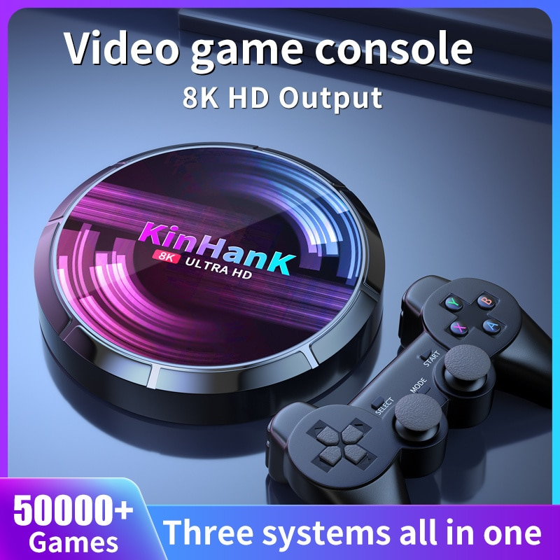 Video Game SS/PS1/PSP/N64/DC/SNES Game Player 4K HD H96 Game/TV Box With 50000+ Games