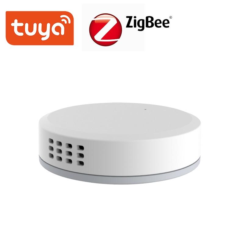 Tuya ZigBee Mini Temperature Humidity Sensor Built-in Battery Smart Life APP Smart Home Building Automation LCD Screen Display