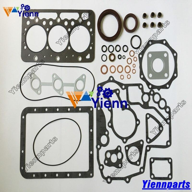 Para Kubota D1402 Kit de juntas minicargadoras T103 excavadoras 225 KH91 tractores L2550DT L2550F L2650F motor