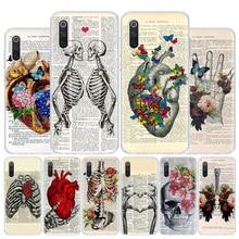 Human anatomy organ newspaper Phone Case For Xiaomi Redmi Note 9 9S 8 8T 8A 7 7A 6 6A MI 9 8 5X 6X F1 CC9 Pro Lite Cover Coque C