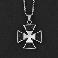 new trendy cross shape pendant necklace mens necklace fashion metal cross sweater chain pendant accessories party jewelry