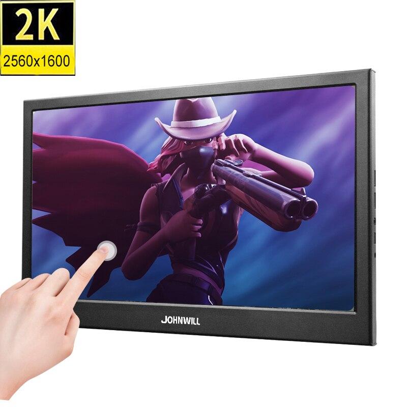 """Pantalla táctil 2K de 10,1 pulgadas ips, monitor portátil para juegos, pc, pantalla LED LCD, 11,6 """", pequeña tableta HDMI, Monitor de ordenador para PS3 4"""