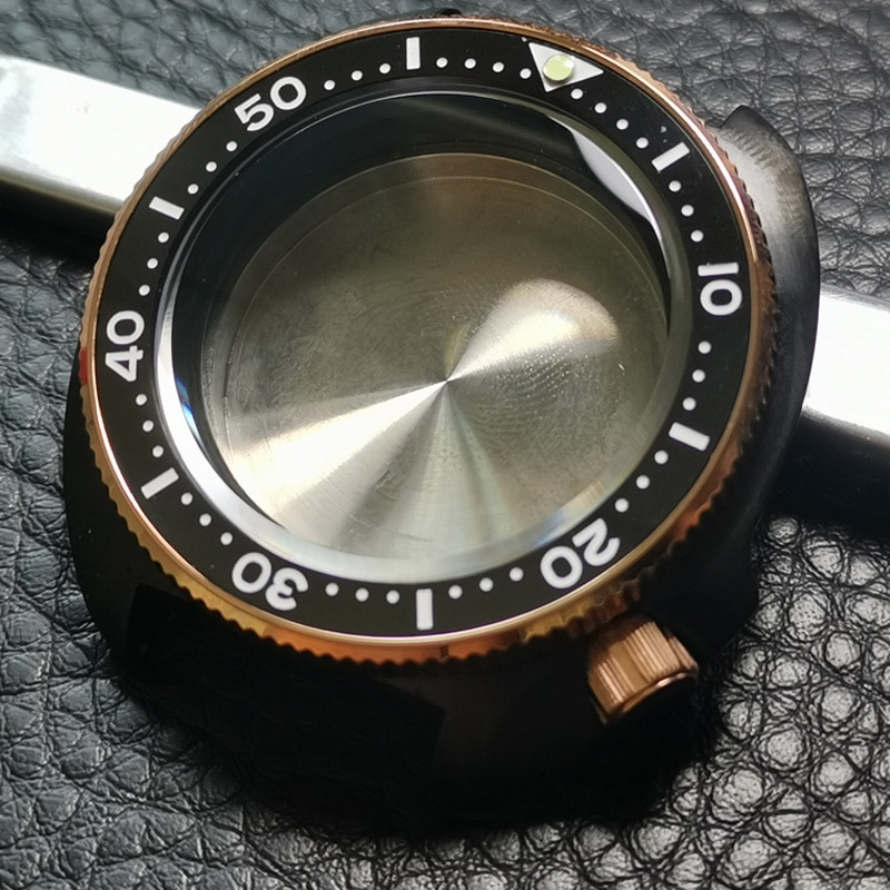 Heimdallr Watch Case Sapphire Crystal 6015-8110 Turtle Black and Gold PVD Coated SKX007 NH35A/NH36A Automatic Movement enlarge