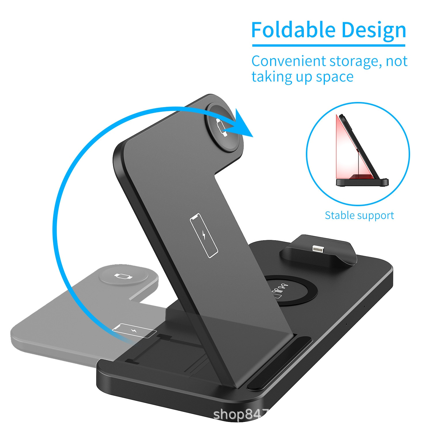 New folding charger desktop stand charging four in one second generation upgraded wireless